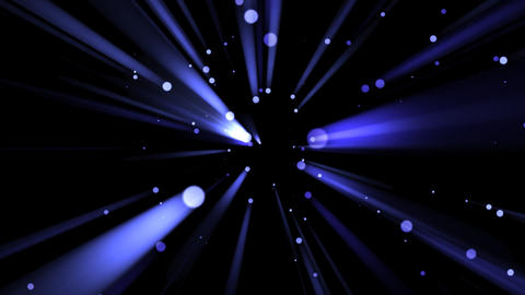 Blue Light Drops and Rays - 04 Animation
