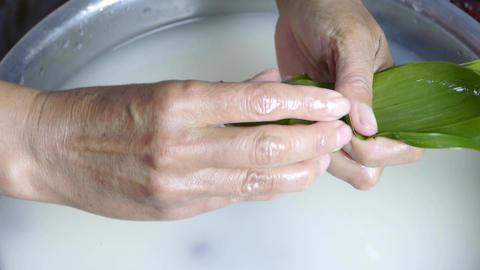 Hands produced rice dumplings of Jujube & glutinous rice Animation