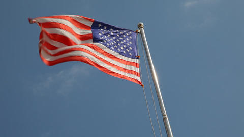 Flag Usa stock footage