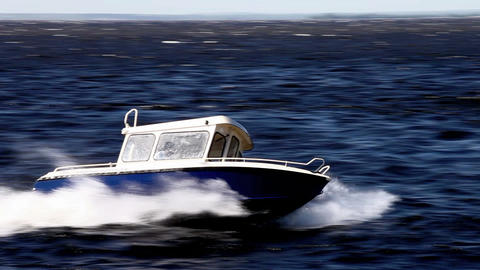 high speed boat Footage