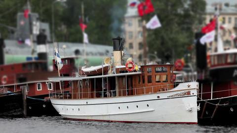 Old steamship Footage