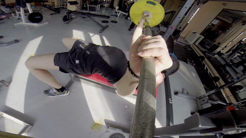 Weight Training HD stock footage