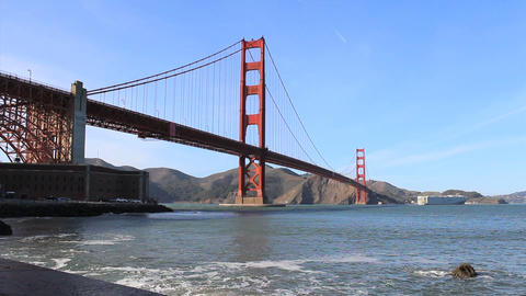 Golden Gate Bridge Tilt Up stock footage