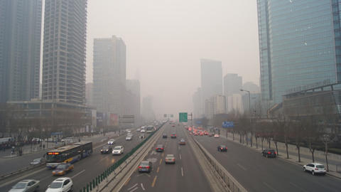 Beijing City Traffic Footage