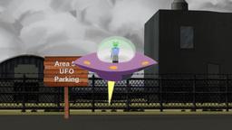 Area 51, UFO Parking Animation stock footage
