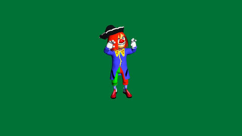 Clown Dance 2 with Matte: Looping Animation
