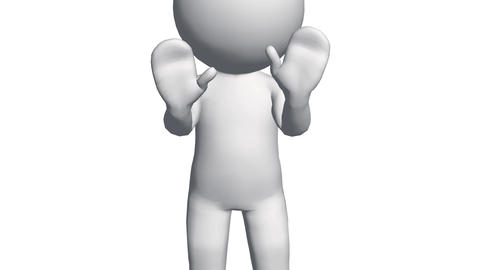 3D cartoon character explain speaking,comics people chat talking Animation