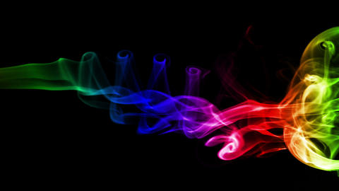 Dark Abstract Background With Colored Real Smoke stock footage