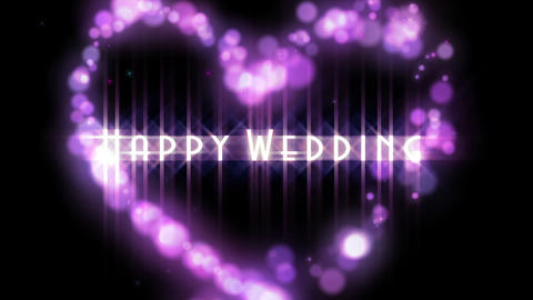 Love Particle Wedding stock footage
