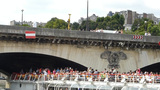 River Seine Cruise near Pont d'Iéna -Jena Bridge, Footage