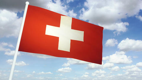 Flag Switzerland 02 Animation
