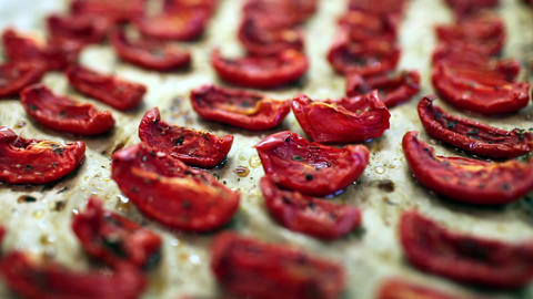 Dried Tomatoes stock footage