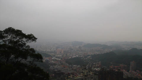 view of Taipei from Mao Kong Animation