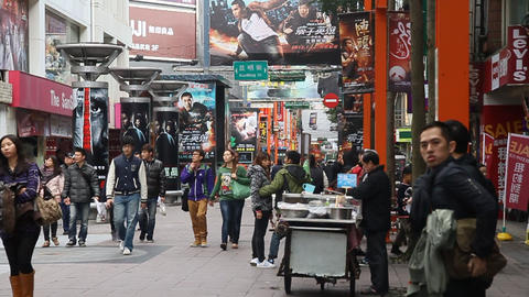 view of ximen street view 3 Animation
