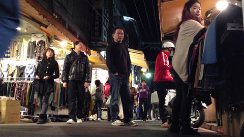 extreme low angle shot in shilin night market Animation