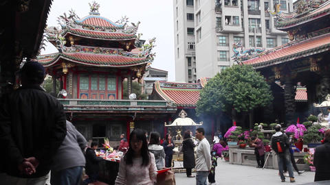 Longshan Temple Main Courtyard stock footage