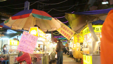 Night Market Scene 6 stock footage