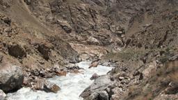 River Border Between Tajikistan And Afghanistan stock footage