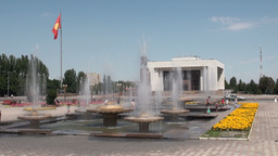 Bishkek's Ala Too Square Kyrgyzstan stock footage