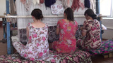 Weaving Carpets In Uzbekistan stock footage