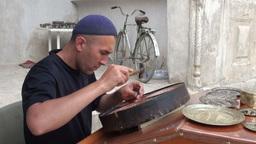 Artist in Uzbekistan Footage