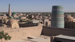 Khiva skyline Uzbekistan Footage