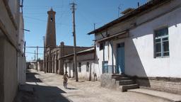 Street scene of Khiva Uzbekistan Footage