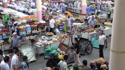 Colorful bazaar in Central Asia Footage