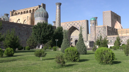 Registan In Samarkand Uzbekistan stock footage