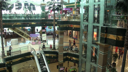 Shopping Mall In Astana stock footage