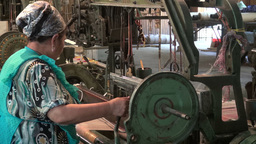 Silk production factory in Central Asia Footage
