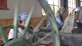 Traditional silk production in Uzbekistan factory Footage