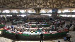 Overview of Tashkent bazaar Uzbekistan Footage