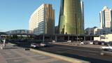 Golden towers in Astana Kazakhstan Footage