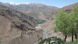 Beautiful vista Tajikistan Afghanistan Footage