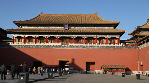 Inside The Forbidden City On A Nice Sunny Day stock footage