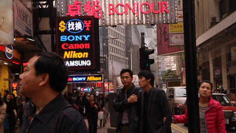 A daytime scene in causeway bay hong kong Live Action