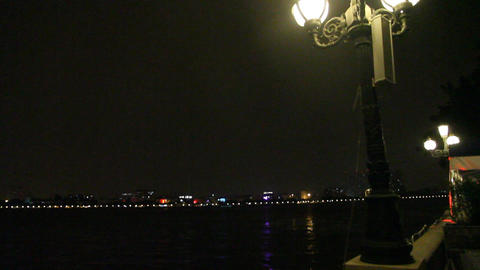 The pearl river in guangzhou evening Footage