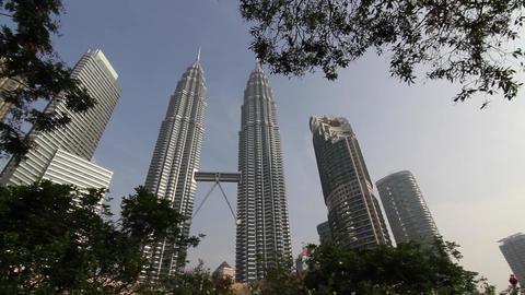Beautiful Petronas sliding shot early morning 2 Footage