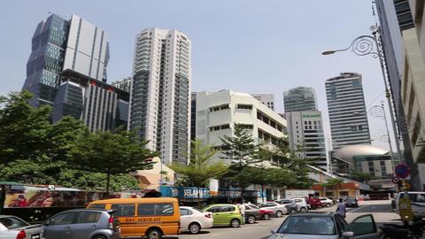 Pan in Kuala Lumpur town area Footage