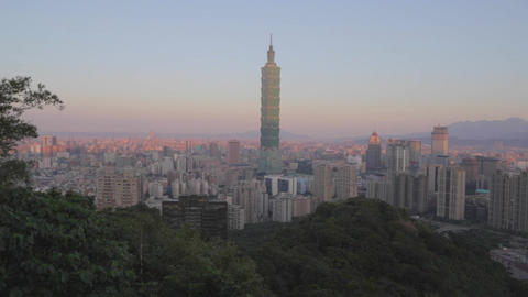 night view of Taipei 101 from Mao Kong Live Action