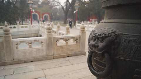 China Beijing Guozijian 04 stock footage