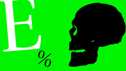 2D Animated Skull Talking With Letters stock footage