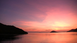 Sunrise In Komodo Marine Park stock footage