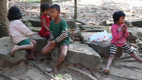 Children, Cambodia Footage