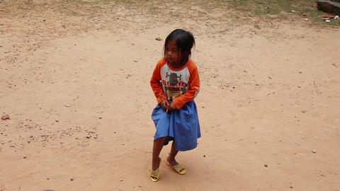 Girl, Cambodia Footage