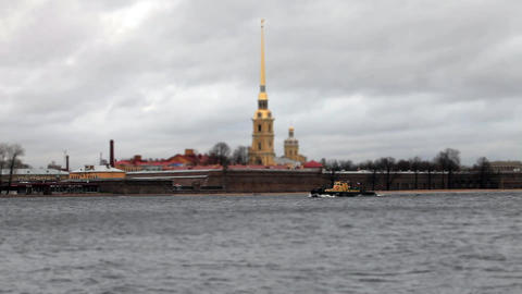 View of the Peter and Paul Fortress Footage