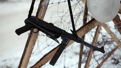 MP40 German Submachine Gun stock footage