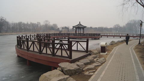 China Beijing Park Yuanmingyuan 04 Footage