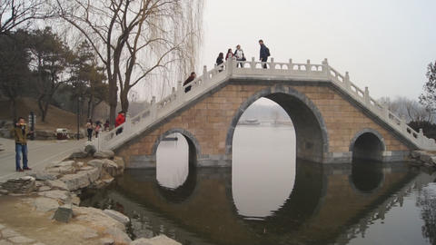 China Beijing Park Yuanmingyuan 08 Footage